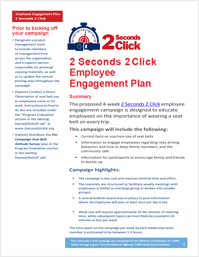 2 Seconds 2 Click Engagement Plan